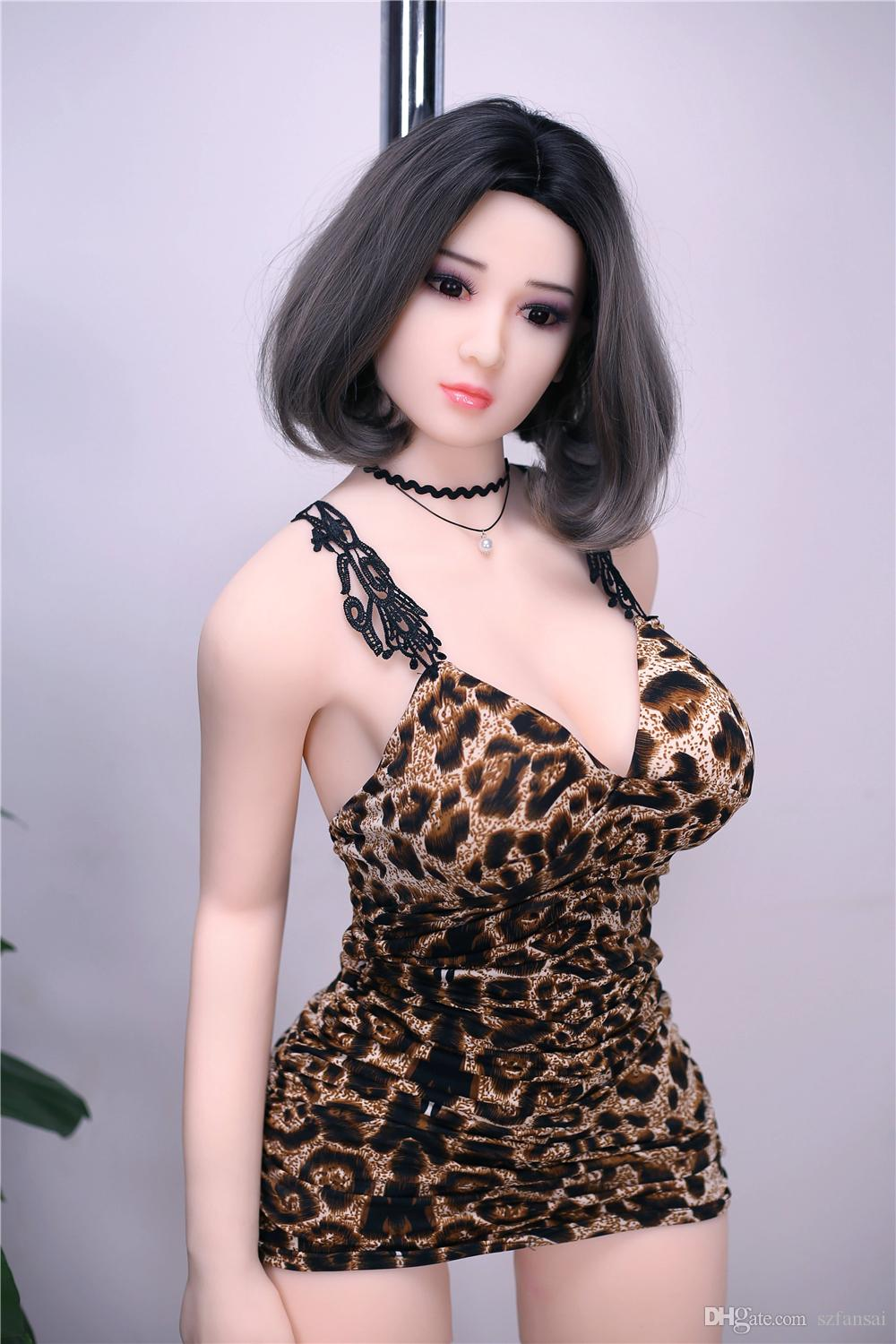 165cm Hot Body Full Silicone Sex Doll Not Inflatable Doll with Realistic Vagina Oral Anal for Men