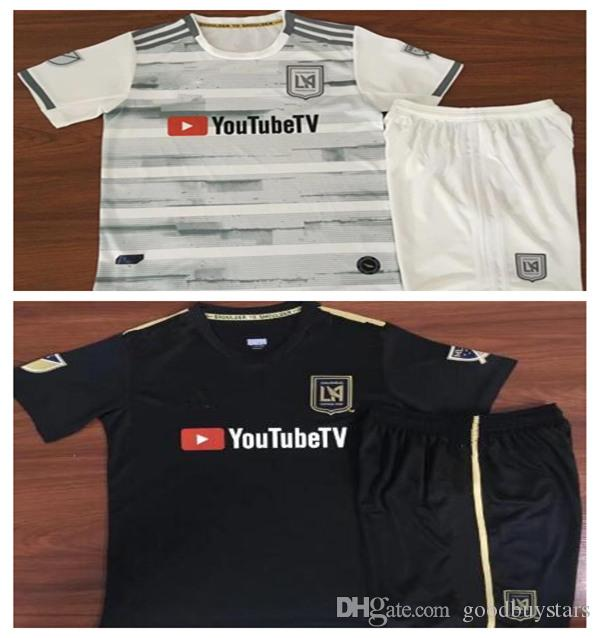 competitive price 2db61 a339b 2019 kids kit LAFC Carlos Vela Soccer Jerseys 2018 Home GABER ROSSI CIMAN  ZIMMERMAN away Football ShirtS Los Angeles CALCIO