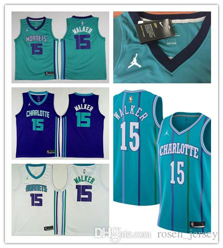 2019 New Mens 15 Kemba Walker Charlotte Hornets Basketball Jerseys Stitched  Embroidery Mesh Dense AU Hornets Kemba Walker Basketball Jerseys Canada 2018  ... 56db0a6a1