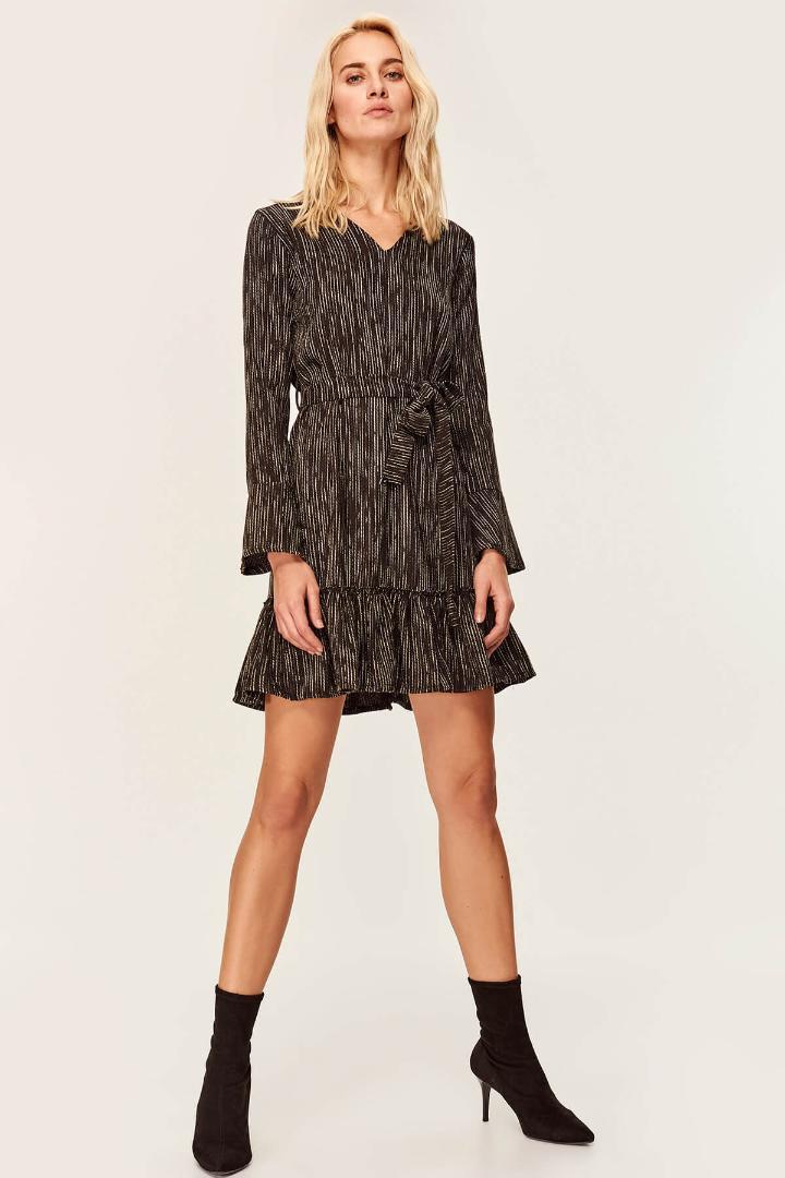 e13ac0aee15 Trendyol Black Goose Foot Dress TOFAW19AP0201 Dresses Cheap ...