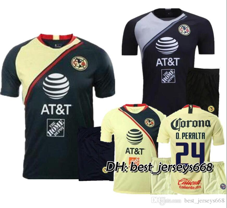 906a1b69b52 2019 ADULT KIT 2018 MEXICO Club America Soccer Jersey Home Away 18 19 LIGA  MX Mateus R .Martínez D.LAINEZ O. Peralta Men Sets Football Shirts From ...