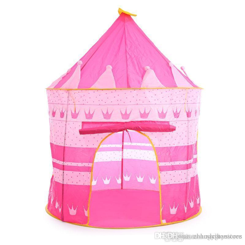 Yard Childrens Tent Toys Foldable Diy Baby Kid Tent Play Indoor Outdoor Children Princess Castle Houseplay Christmas Gift Outdoor Fun & Sports