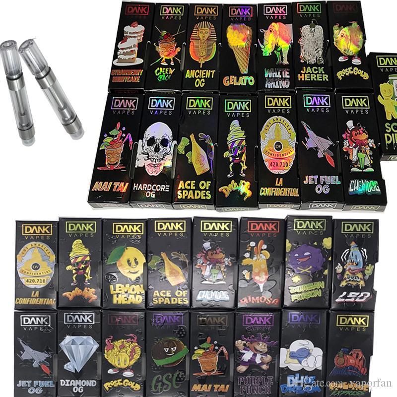 Hologram Dank Vapes 510 Thread Vape Cartridge Packaging E Cigarettes Vape  Tanks 1 0ML Empty Vape Pen Vaporizer Pen MT6 Thick Oil Atomizer