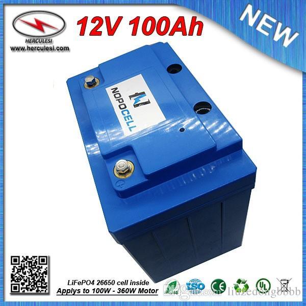 360W Li-ion Battery Pack 12V 100Ah Lipo battery for Electric Bike EV HEV  Car scooter UPS Streetlamp solar system FREE SHIPPING