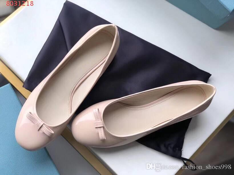 10b1efead7 woman Thick heel shoes Spring fairy bow-knot Round head outsole Black blush  Walking comfortably Formal wear Leisure