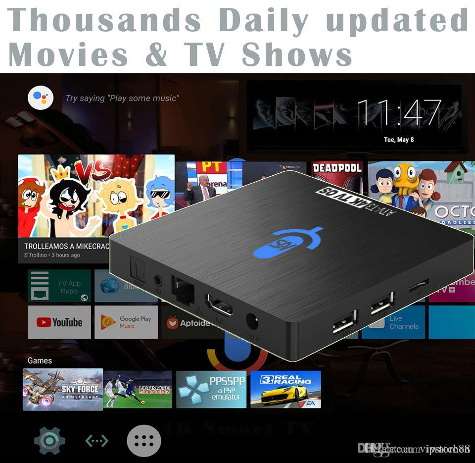 1pcs Google Voice Control Android 7 1 TV boxes Amlogic S912 Octa core 4K  3GB/32GB Thousands Daily Updated Movies & TV Shows