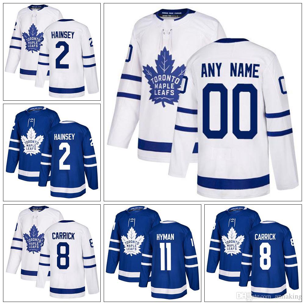 brand new 53068 bb690 New Custom Toronto Maple Leafs Hockey Jerseys12 Patrick Marleau 2 Ron  Hainsey Jersey 11 Zach Hyman 8 Connor Carrick Mens women Home Away
