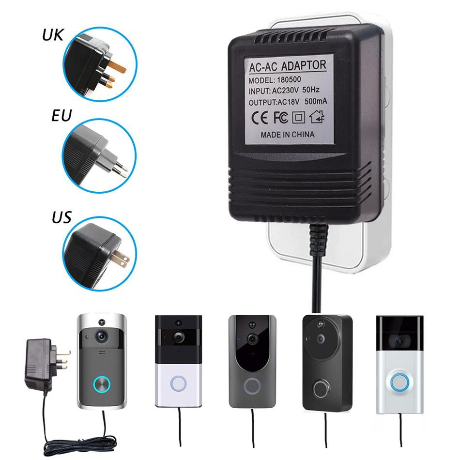 Cheap Doorbell US UK EU Plug 18 AC Transformer Charger for Wifi Wireless  Doorbell Camera Power Adapter IP Video Intercom Ring 110V-240V