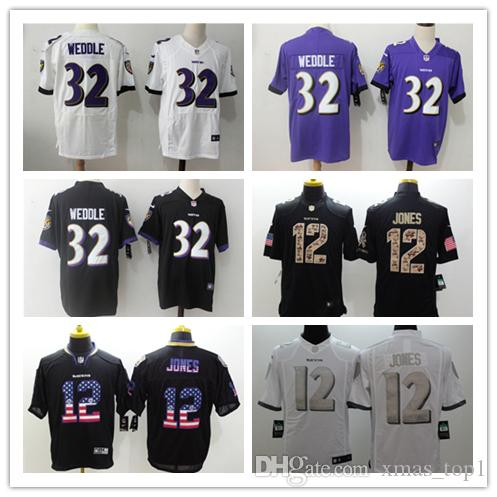 482a02e6 2019 New Mens 32 Eric Weddle Jersey Baltimore Ravens Football Jerseys 100%  Stitched Embroidery BR 12 Jacoby Jones Color Rush Football Shirt
