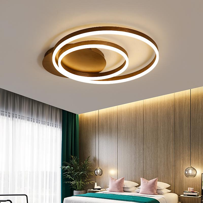 Modern Japanese Room Remote Control ceiling Light Led 110V 220V Ring  Fixtures Bedroom Lights Ceiling Lamp European Dining Room