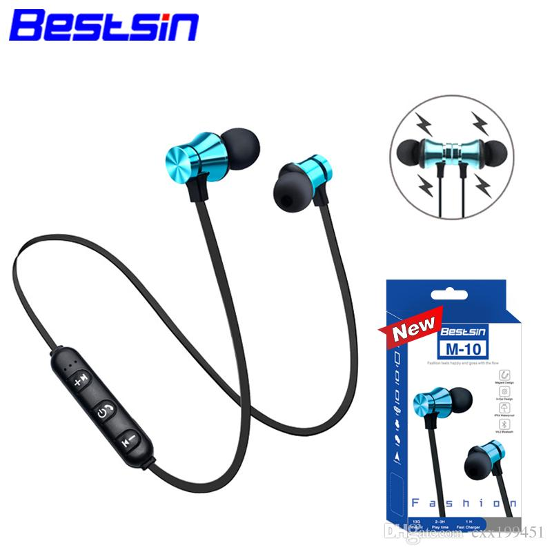 402e548c858 Bestsin M10 Wireless Bluetooth 4.1 Headphones Stereo Headset Sport In Ear  Earphone Microphone Running For Iphone XS Iphone XR Iphone XSMAX Cell Phone  ...