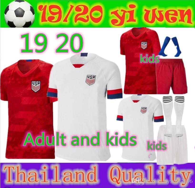 94021d843 2019 Adult And Kids 2019 2020 USA PULISIC Soccer Jersey 19 DEMPSEY BRADLEY  ALTIDORE WOOD American Football Jerseys Youth United States Shirt From ...