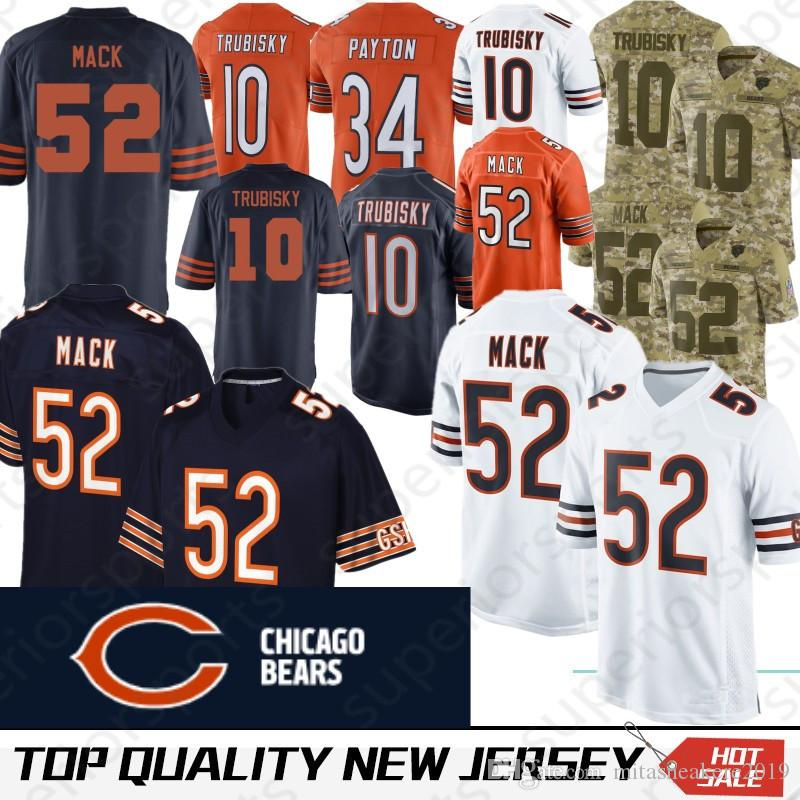 finest selection 7a613 060c4 Chicago 52 Khalil Mack Bears jersey 17 nthony Miller 10 Mitchell Trubisky  58 Roquan Smith 24 Howard 29 Tarik Cohen 54 Brian Urlacher