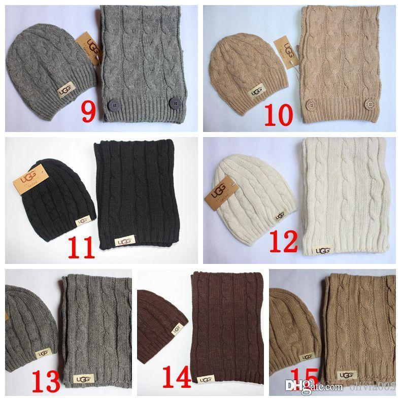 2294d5f88f8746 Winter Cute Men And Women Designer Hat Scarf Sets Warm European High-end  Luxury Brand Hat Scarf Fashion Accessories A02 Hat Scarf Winter Scarf  Online with ...