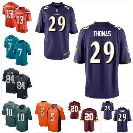 free shipping fc024 e4ce9 Joe Flacco Landon Collins Jersey Broncos Denver Antonio Marrom Nick Foles  Odell Beckham Jr DeSean Jackson personalizado jerseys de futebol jovem