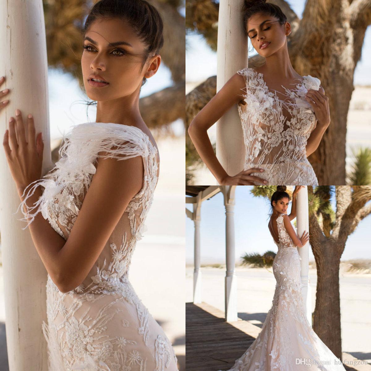 2019 Vintage Mermaid Wedding Dresses Milla Nova V Neck