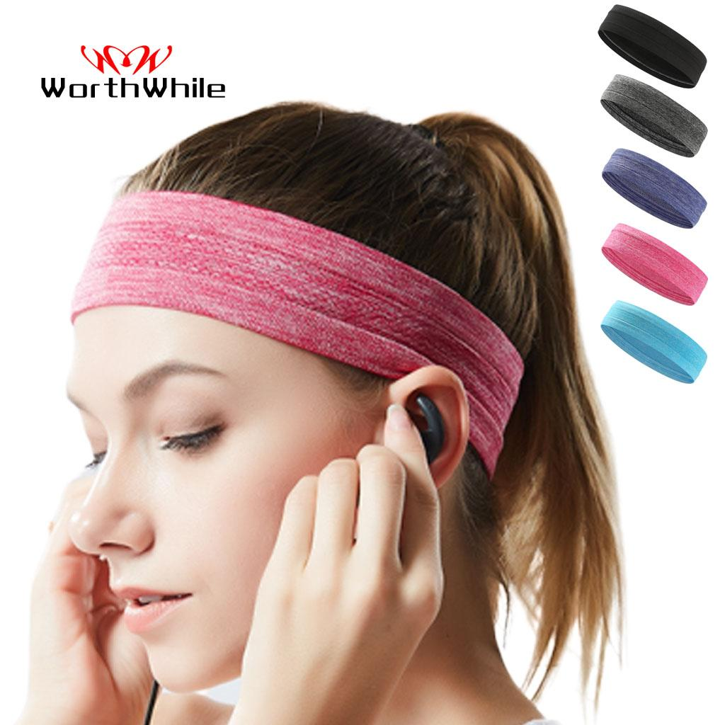 WorthWhile Elastic Sweatband Sports Gym Headband Anti-Slip Women Men Breathable Basketball Fitness Yoga Volleyball Hair Band