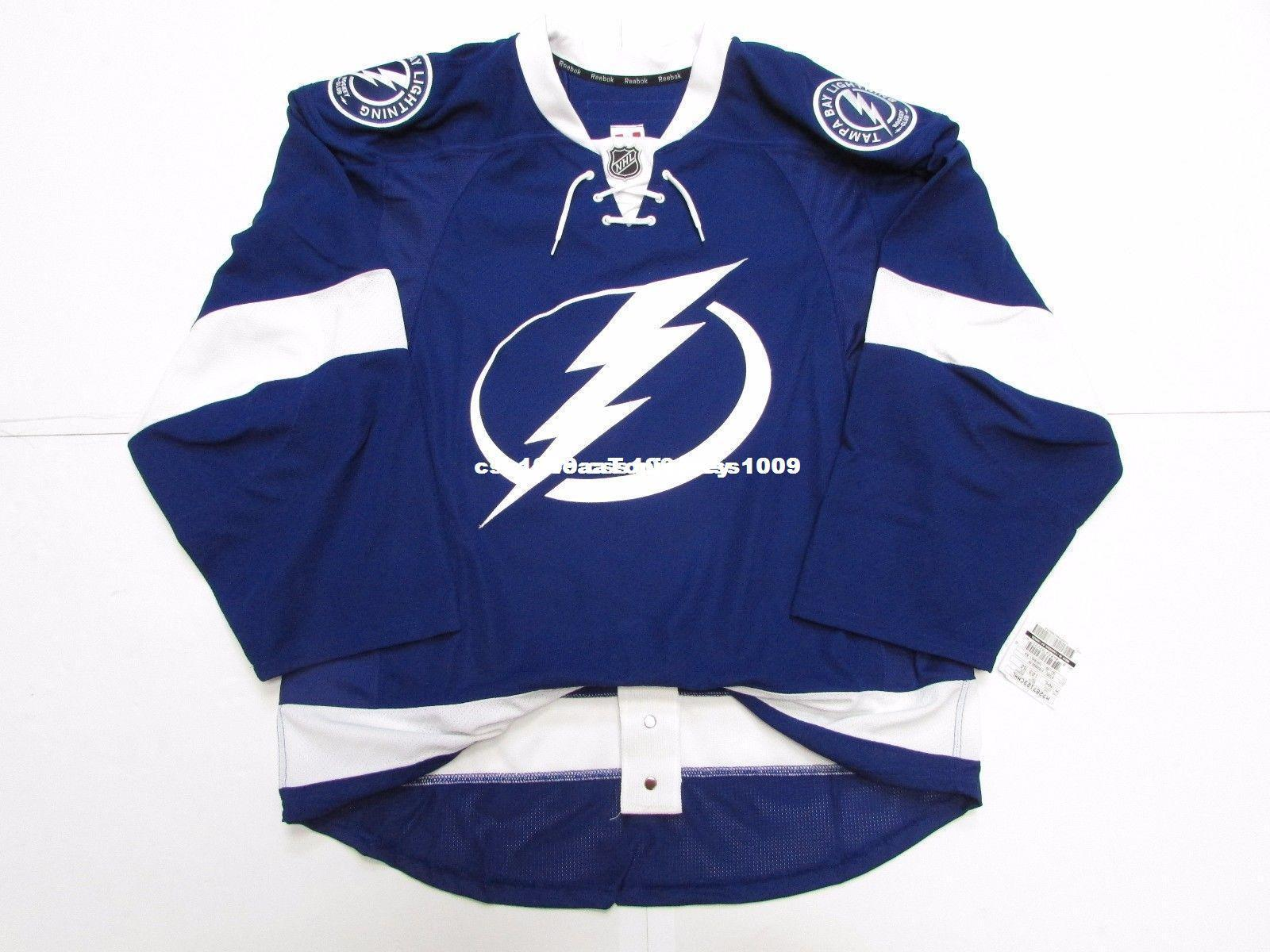 Cheap Custom TAMPA BAY LIGHTNING HOME TEAM ISSUED JERSEY Stitch Add Any  Number Any Name Mens Hockey Jersey XS-6XL Retro Hockey Jersey Cheap Hockey  Jersey ... 028d9635c