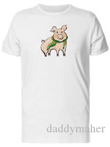 Pig With Green Scarf Doodle Men 039 s Tee Image by Hip hop