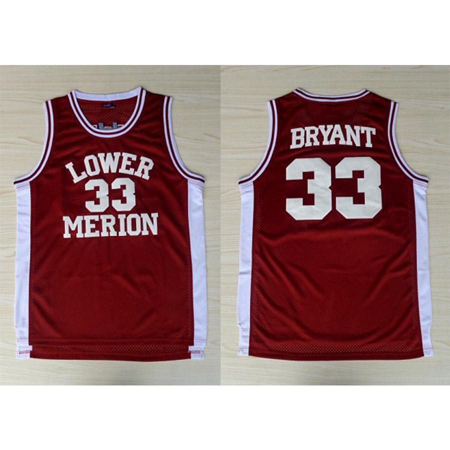 93449aec536 2019 Mens Kobe Bryant Jersey Collection Lower Merion High School Basketball Jerseys  High Quality Stitched Name Number Size S 2XL From Jerseyplant