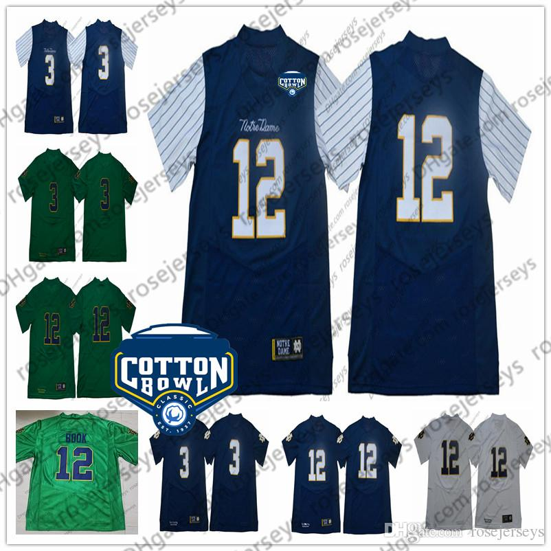 29abff888 2019 Mens NCAA Notre Dame Fighting Irish  3 Joe Montana  7 Wimbush  12 Ian  Book 2018 Shamrock Series Pinstripe Navy Blue No Name Jerseys From  Rosejerseys