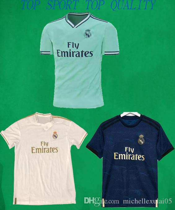 hot sale online 48d4a 27329 19 20 Real Madrid Soccer Jersey RONALDO HAZARD BALE POGBA Football Shirts  Top Thai Quality Mens Football Jersey Adult Outdoor Sports Wears