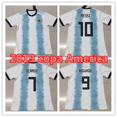 67c8319a482a6 Compre Argentina 2019 Copa América Casa Camisa De Futebol Messi 19 20  DYBALA ICARDI HIGUAIN DI MARIA Camisas De Futebol PRÉ MATCH CAMISA De  Laule9977