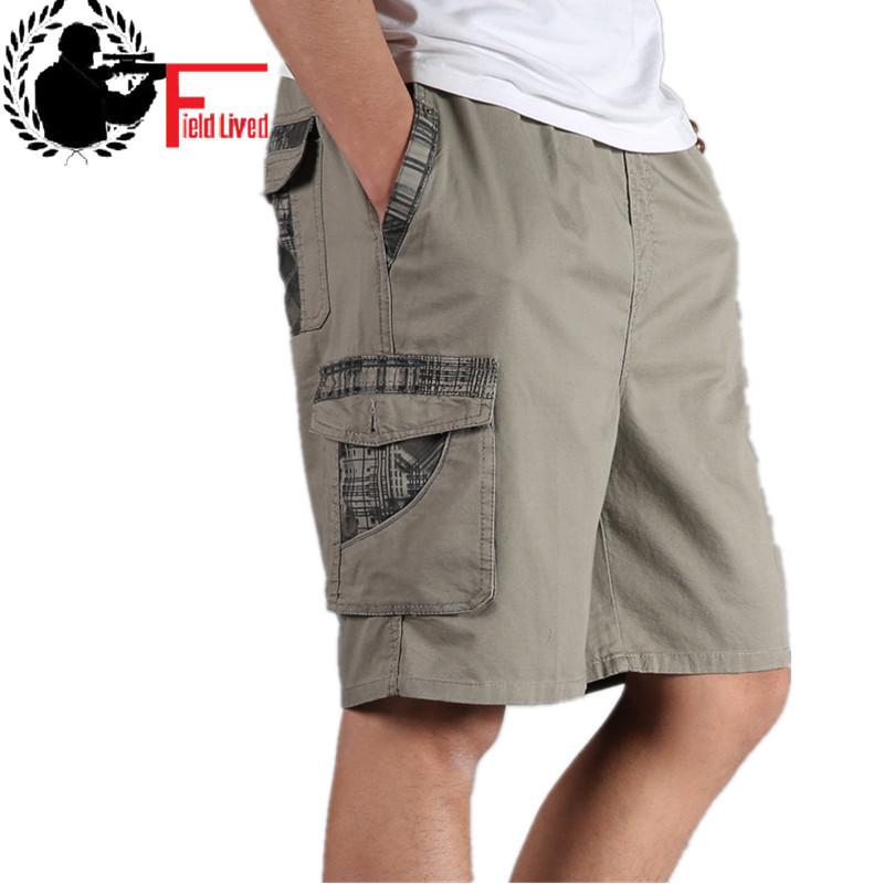 ab752c8166 2019 Men Summer Plus Size Cotton Elastic Waist Bermuda Hot Loose ...