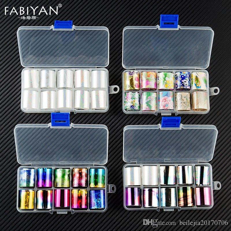 10 Sheets Holographic Laser Nail Art Tips Foil Transfer Sticker Colorful  Starry Sky Manicure DIY Decals Decoration Tool 2 5*50cm