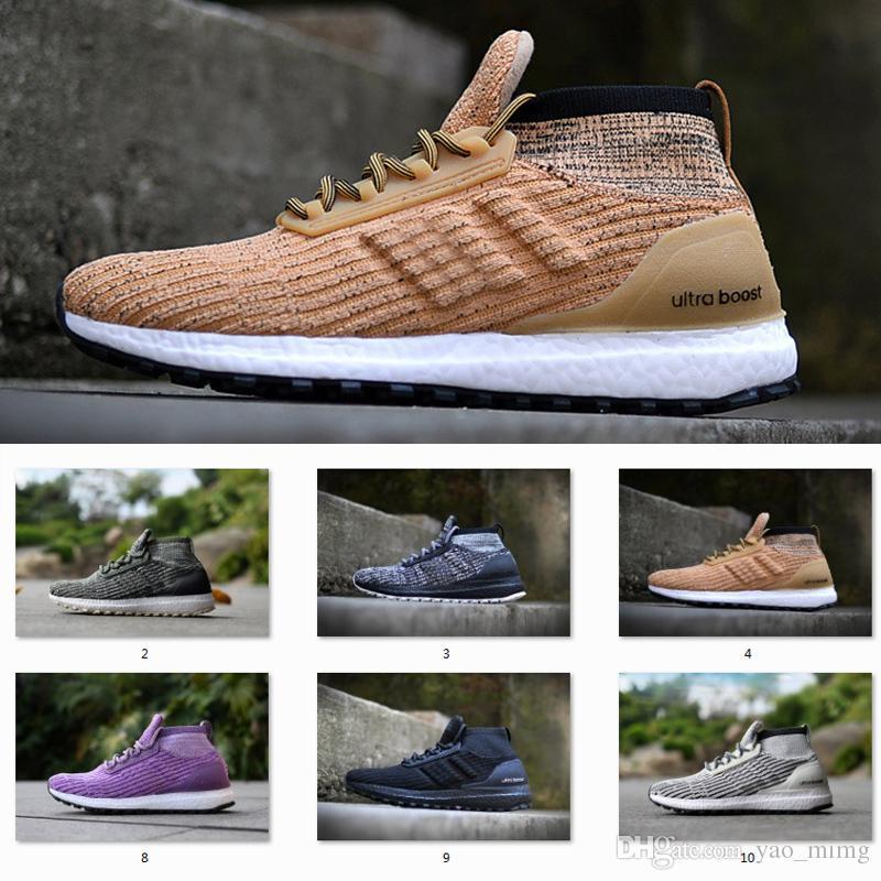 quality design 22c3e 987e6 Cheap Ultra Boost ATR Mid Running Shoes Burgundy/Oreo/Triple Black High  Quality UltraBoost Primeknit Men Womens Outdoor Sneakers 11 Colour