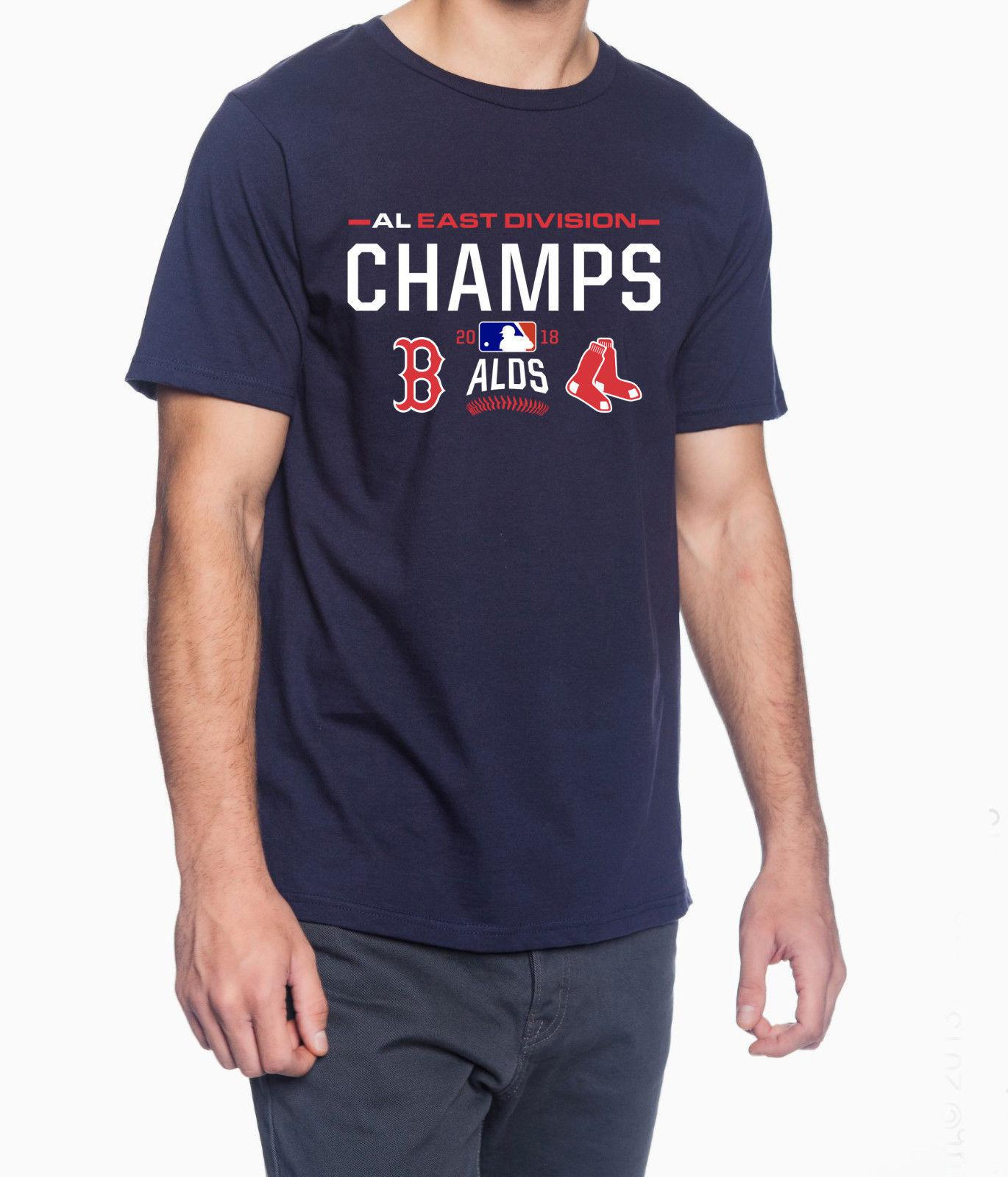 e2c6fa8ab7d Boston Red Sox AL East 2018 Champions MLB Jersey Style Men S Graphic T Shirt  Cool Casual Pride T Shirt Men Awesome Tee Shirt Designs T Shirts Awesome  From ...