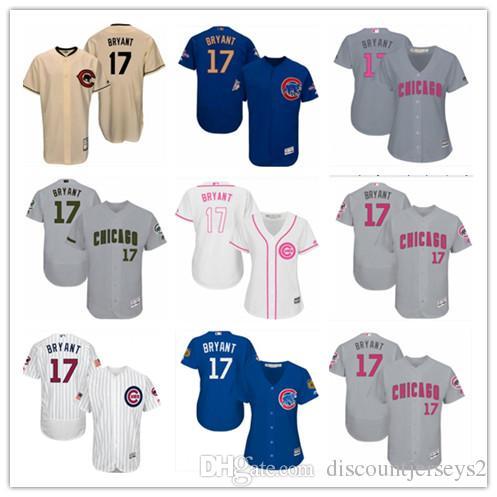 new product 6891f 6f391 2019 top Cubs Jerseys #17 Kris Bryant Jerseys men#WOMEN#YOUTH#Men s  Baseball Jersey Majestic Stitched Professional sportswear