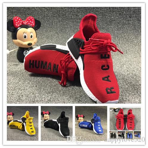 2d5fbd8e3 Pharrell Williams Infant Human Race NMD Kids Running Shoes Yellow Toddlers  Athletic SPORT Trainers Children Boys Girls Sneakers Core Black NZ 2019  From ...