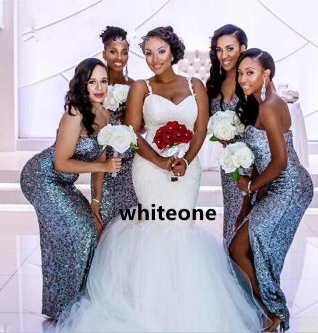Illusion Back Sexy African Mermaid Wedding Dresses 2019