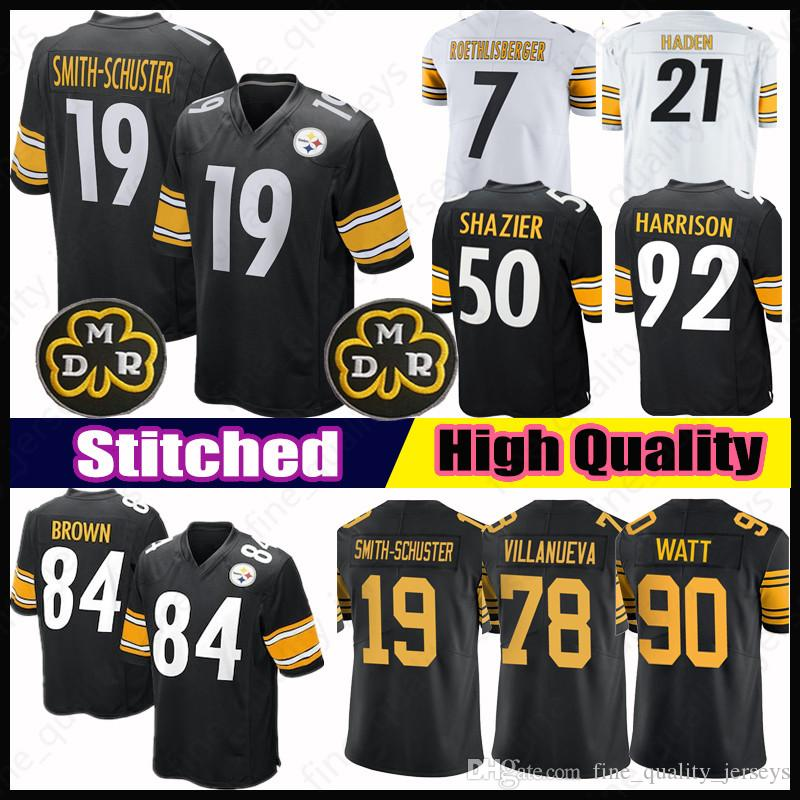 wholesale dealer 8d8b3 7a009 19 Juju Smith-Schuster Pittsburgh 84 Antonio Brown Steelers Jerseys 90 T.J.  Watt 30 James Conner 43 Troy Polamalu 78 Villanueva 7 36 Bettis