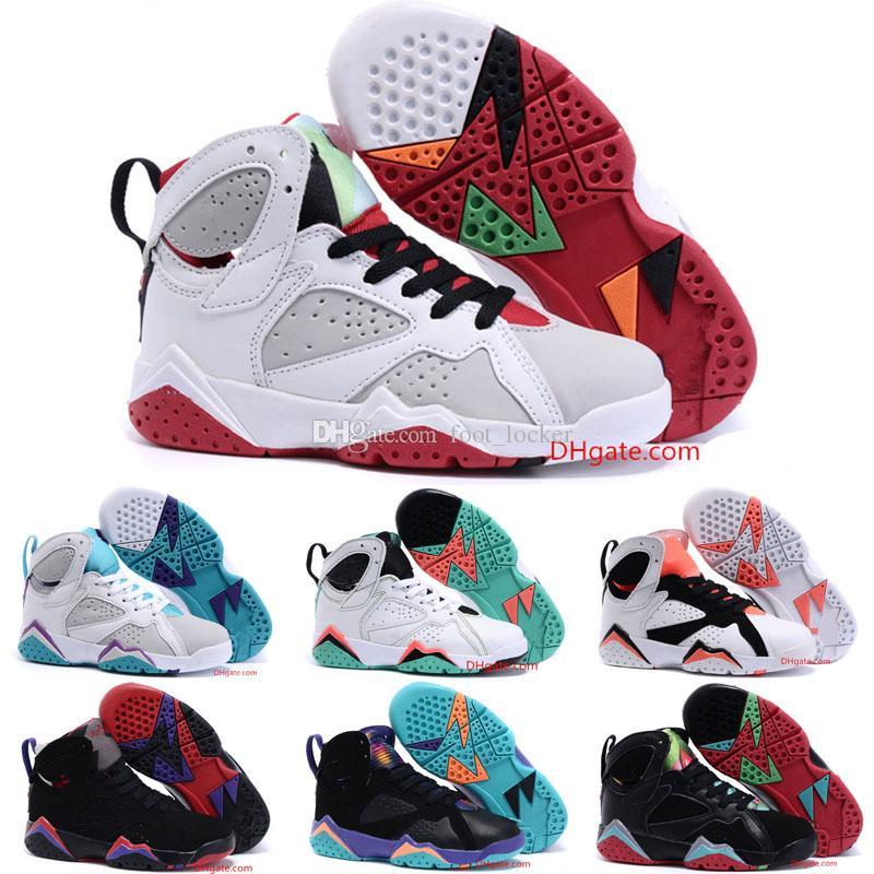 new products 97f65 8682b ... Garçons Filles Bébé Bébé 7s Chaussures De Basket Ball Enfants Baskets  Athlétiques Chaussures De Sport Taille 28 35 De  28.42 Du Foot locker    DHgate.Com
