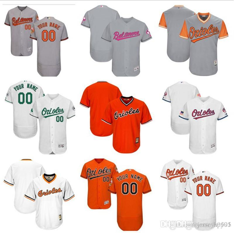 42e1c627b0e 2019 Custom Men S Women Youth Majestic Baltimore Orioles Jersey Any Your  Name And Your Number Home Blue Grey White Kids Girls Baseball Jerse From  Hpy01