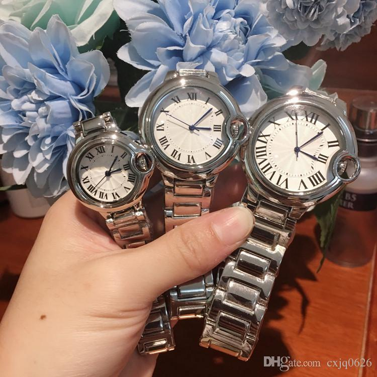High quality 2019 Man/women dress watches Classic Quartz Watch fashion casual brand wristwatch steel New ladies Luxury Lovers watch Elegant
