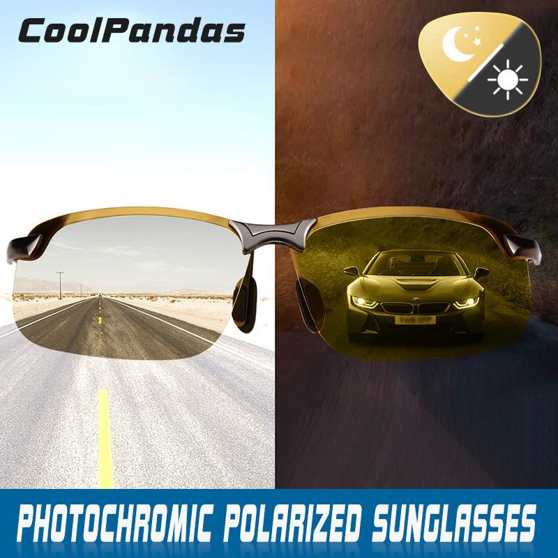 21af899b142 Intelligent Photochromic Polarized Sunglasses Men Women Day Night Vision  Driving Sports Chameleon Discoloration Sun Glasses Men