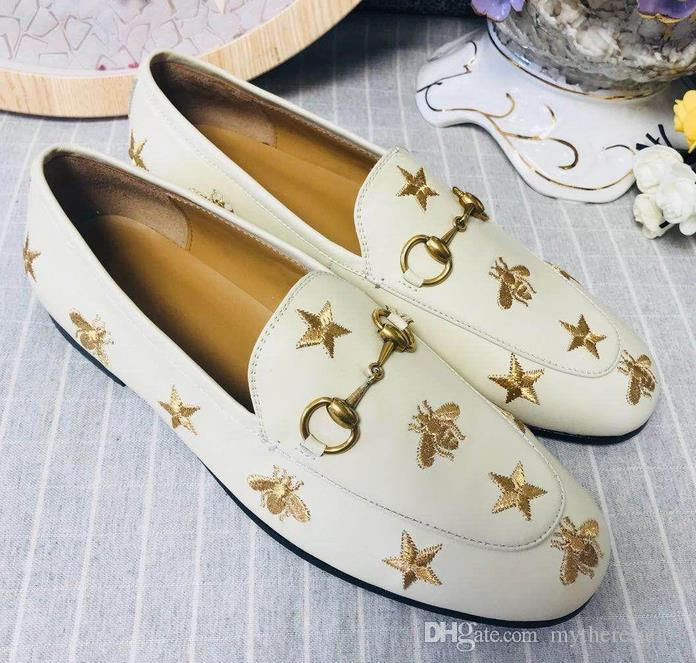 8d61bf4590a Leather Horsebit Loafer Womens Luxury Brand Designer Fashion Loafers ...