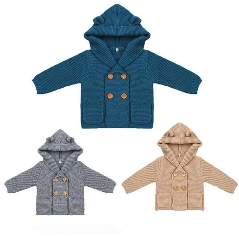 27c27ecb64ab Hooded Ears Coat Jacket Outfits Long Sleeve Baby Boy Clothes ...