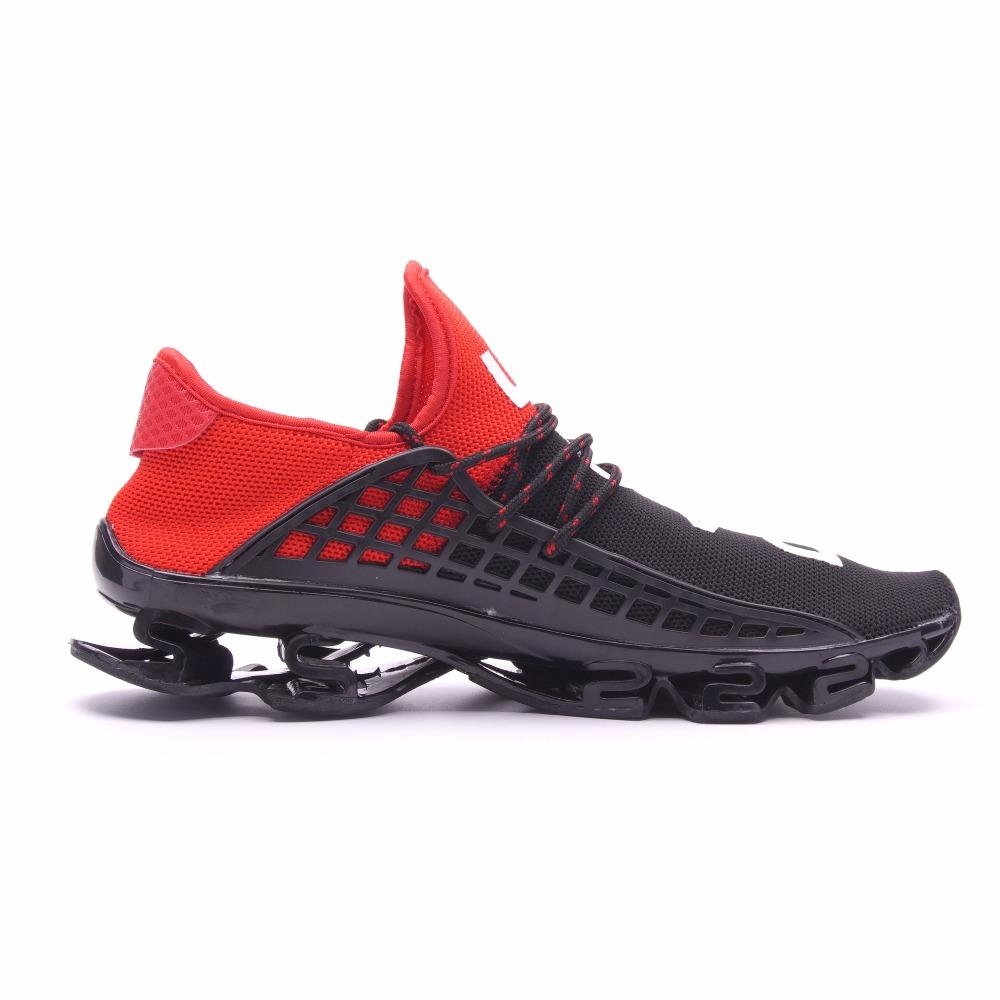 Men's Sport Running Shoe 2019 Lace-up Exercise Couple Sneakers Breathable Mesh Letter Shoes Size 36-48 Sneakers for Men