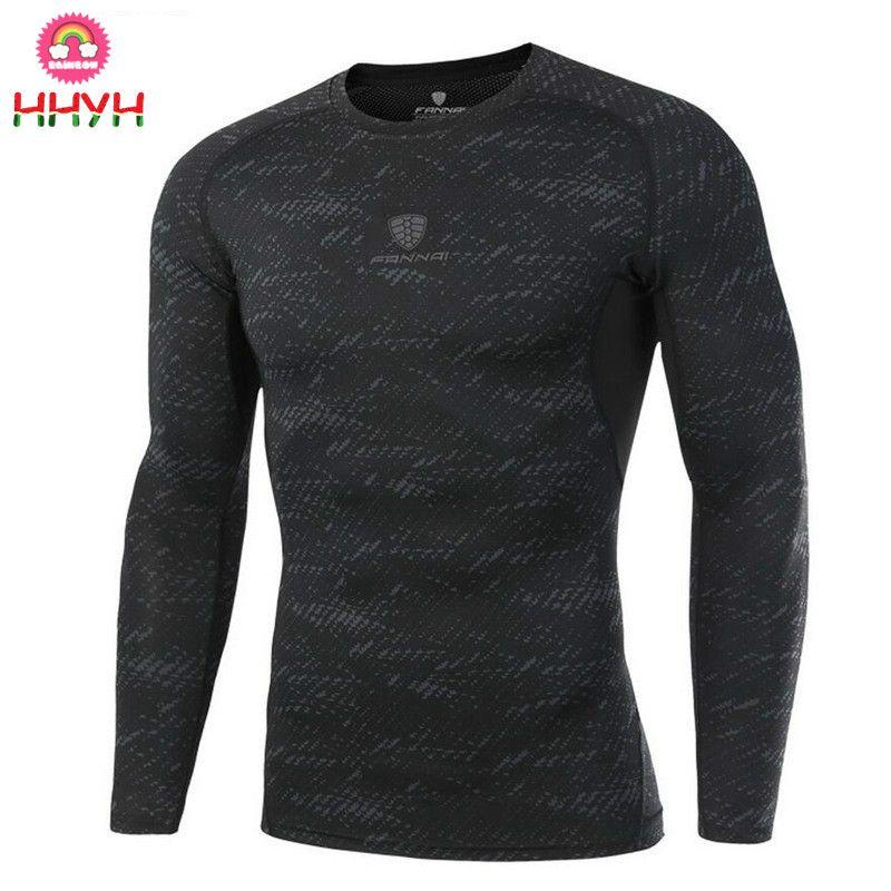 38680bc27916 Acquista 2019 Uomo Maniche Lunghe Tee Tops Abbigliamento T Shirt Aderenti  Compressione Bodybuilding T Shirt Quick Dry Gym Fitness Running Jogging A  $22.89 ...