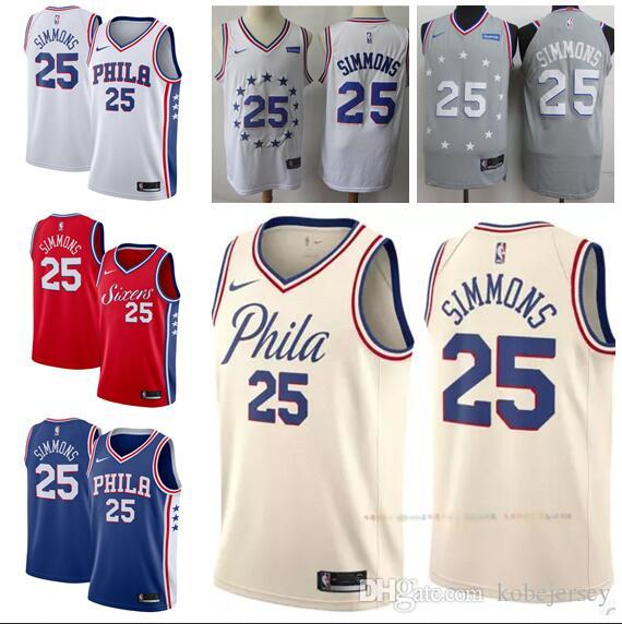 detailing 21485 6ecbb Men's Philadelphia Ben 76ers 25 Simmons Royal Swingman Jersey - Icon Edition