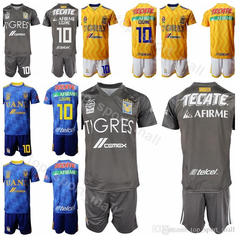 3f9e74f57 2019 2018 2019 Tigres UANL 9 Eduardo Vargas Jersey Set Men Soccer 13 Enner  Valencia 1 Nahuel Guzman Football Shirt Kits Uniform Make Custom From ...