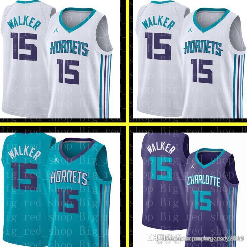 af5f7c01a 2019 Kemba 15 Walker Charlotte New Hornets Jersey Mens Charlotte Hornet  Basketball Jerseys Embroidery Logos From Topmensjersey2018