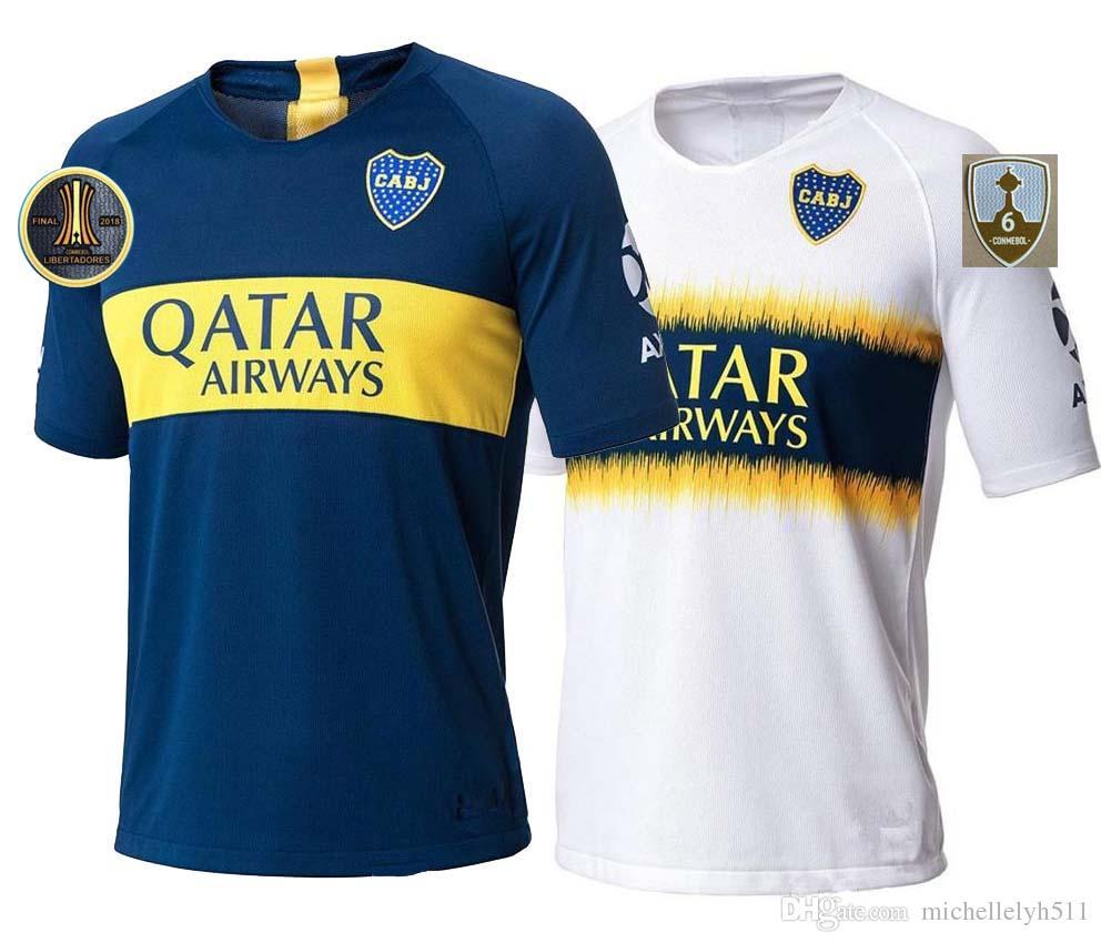 big sale 2f5f1 69845 18 19 Boca Juniors Soccer Jerseys 2018 Copa Libertadores CARLITOS OSVALDO  BENEDETTO GAGO Football Shirt Boca Home Away Third Soccer Wear