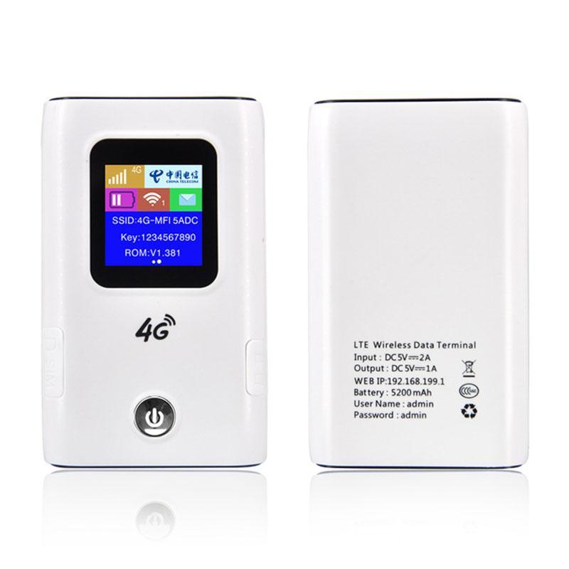 4G Wifi Router Car Mobile Hotspot Wireless Broadband Pocket Mifi Unlock Lte  Modem Wireless Wifi Extender Mini Router