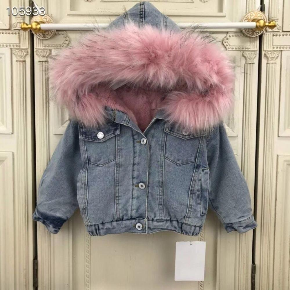 Kids Denim Jacket Hooded For Girls Windbreaker Children Jeans Coat