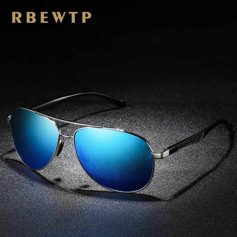 b6cfd1f51d RBEWTP Unisex 2019 Pilot Sunglasses Men Polarized Driving Spring Leg ...